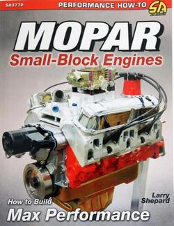 "Mopar Small Block Motor, ""How To Build Max Performance"" Håndbog"