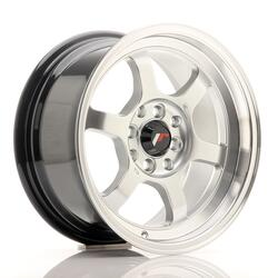 JR Wheels JR12 15x7,5 ET26 4x100/114 Hyper Silver w/Machined Lip
