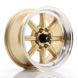 JR Wheels JR19 14x7 ET0 4x100/114 Gold w/Machined Lip