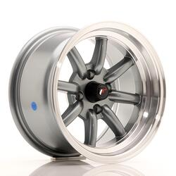 JR Wheels JR19 14x8 ET-13 4x100 Gun Metal w/Machined Lip