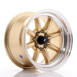 JR Wheels JR19 14x8 ET-13 4x100/114 Gold w/Machined Lip