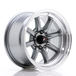 JR Wheels JR19 14x8 ET-13 4x100/114 Gun Metal w/Machined Lip