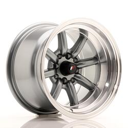 JR Wheels JR19 14x9 ET-25 4x100/114 Gun Metal w/Machined Lip