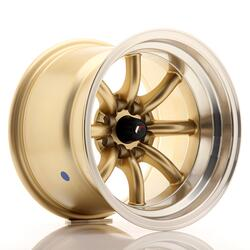 JR Wheels JR19 15x10,5 ET-32 4x100/114 Gold w/Machined Lip