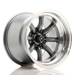 JR Wheels JR19 15x10,5 ET-32 4x100/114 Gun Metal w/Machined Lip