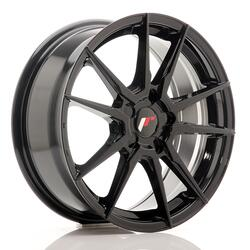 JR Wheels JR21 17x7 ET35-40 5H BLANK Gloss Black