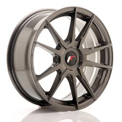 JR Wheels JR21 17x7 ET25-40 Blank Hyper Gray