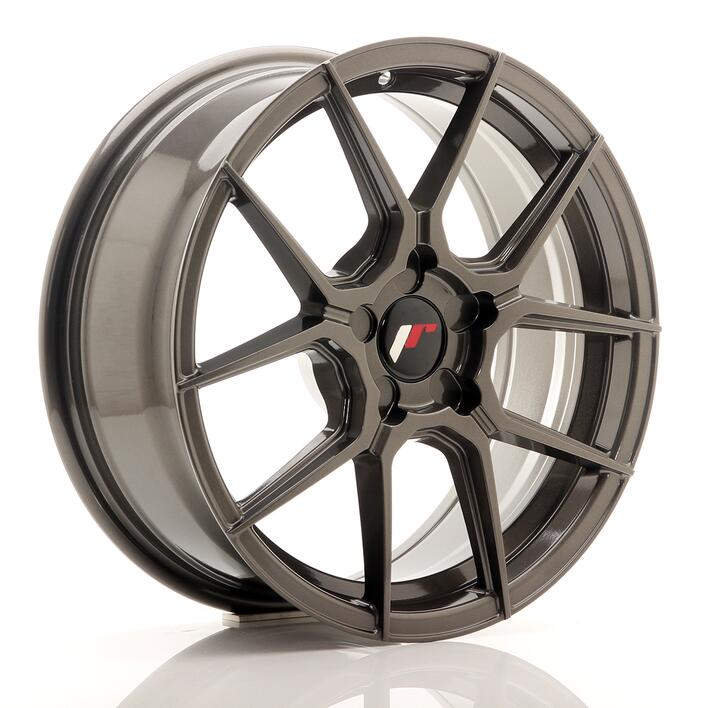 JR Wheels JR30 17x8 ET20-40 5H BLANK Hyper Gray