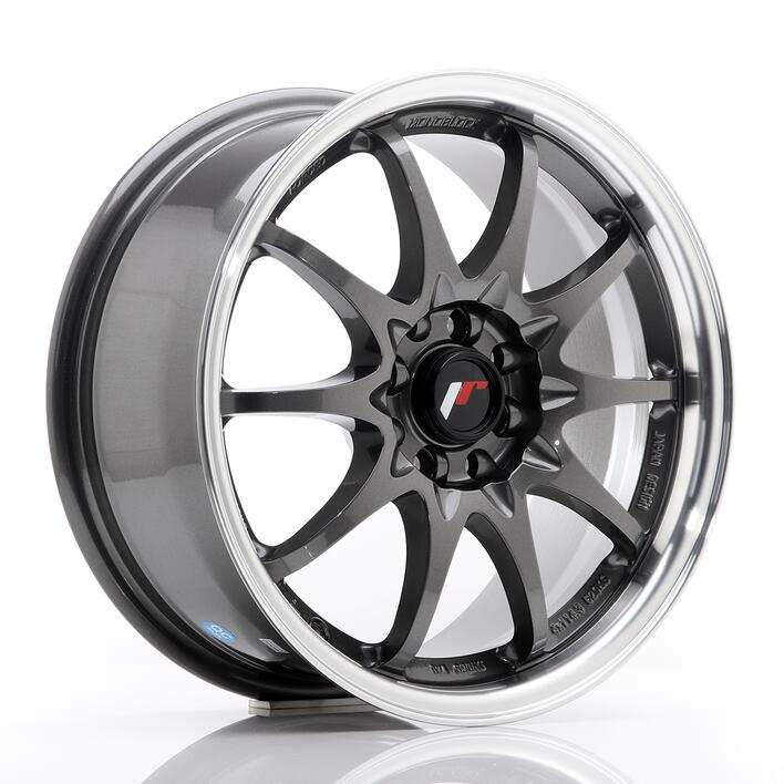 JR Wheels JR5 16x7 ET30 4x100/108 Gun Metal w/Machined Lip