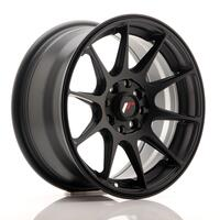 JR Wheels JR11 15x7 ET30 4x100/114 Flat Black
