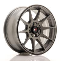 JR Wheels JR11 15x7 ET30 4x100/108 Matt Gun Metal