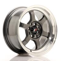 JR Wheels JR12 15x7,5 ET26 4x100/114 Gun Metal w/Machined Lip