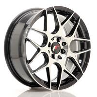 JR Wheels JR18 17x7 ET40 4x100/114 Gloss Black Machined Face
