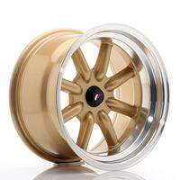 JR Wheels JR19 16x9 ET-25-(-15) BLANK Gold w/Machined Lip