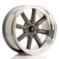JR Wheels JR19 17x8 ET0 BLANK Gun Metal w/Machined Lip