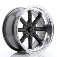 JR Wheels JR19 17x9 ET-10 BLANK Gun Metal w/Machined Lip