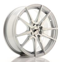 JR Wheels JR21 17x7 ET40 4x100/114 Silver Machined Face