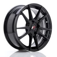 JR Wheels JR21 17x7 ET25-40 4H BLANK Glossy Black
