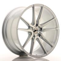 JR Wheels JR21 21x11 ET15-55 5H BLANK Silver Machined Face