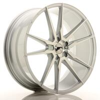 JR Wheels JR21 22x9,5 ET30-48 5H BLANK Silver Machined Face