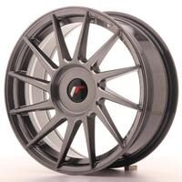 JR Wheels JR22 17x7 ET35-40 BLANK Hyper Black