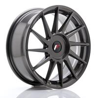 JR Wheels JR22 17x7 ET35-40 BLANK Hyper Gray