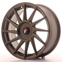 JR Wheels JR22 17x7 ET35-40 BLANK Matt Bronze