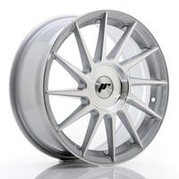 JR Wheels JR22 17x7 ET35-40 BLANK Silver Machined Face