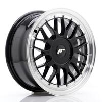 JR Wheels JR23 16x7 ET20-45 BLANK Gloss Black w/Machined Lip