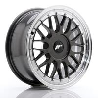 JR Wheels JR23 16x7 ET20-45 BLANK Hyper Gray w/Machined Lip