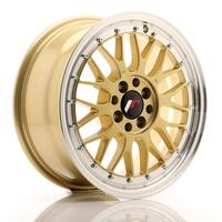 JR Wheels JR23 16x7 ET20 4x100/108 Gold w/Machined Lip