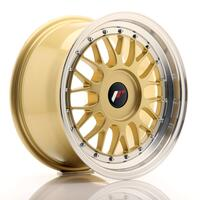 JR Wheels JR23 16x8 ET20-45 BLANK Gold w/Machined Lip