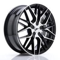 JR Wheels JR28 17x7 ET20-45 BLANK Black Machine