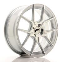 JR Wheels JR30 17x7 ET40 4x100 Silver Machined Face