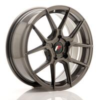 JR Wheels JR30 17x7 ET20-40 5H BLANK Hyper Gray