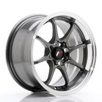 JR Wheels JR5 15x7 ET35 4x100 Gun Metal w/Machined Lip