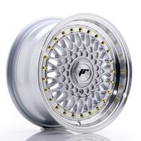 JR Wheels JR9 15x7 ET20 4x100/108 Silver w/Machined Lip