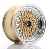 JR Wheels JR9 15x8 ET15 4x100/114 Gold w/Machined Lip