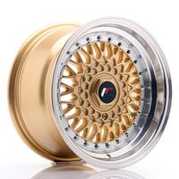 JR Wheels JR9 15x8 ET20 BLANK Gold w/Machined Lip