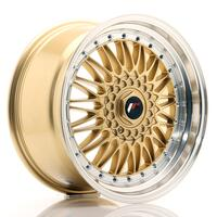 JR Wheels JR9 18x9 ET20-40 BLANK Gold w/Machined Lip