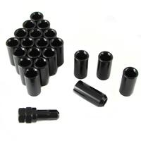 Set of BLACK LONG imbus lug nuts 12x1,5 + Key
